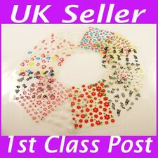 10X 3D Nail Art Tips Stickers Design Manicure Decals UK