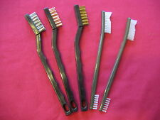 5 Usa Made Gi Steel Bronze Brass Nylon Gun Smith Cleaning Brushes Military