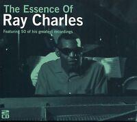THE ESSENCE OF RAY CHARLES - 2 CD BOX SET - I GOT A WOMAN, BLACKJACK & MORE