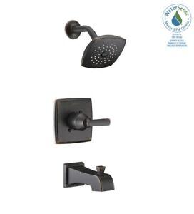 Delta T14464-RB Ashlyn 1-Handle Tub & Shower Faucet Trim Kit in Venetian Bronze