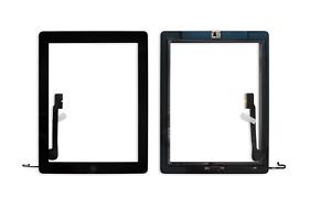iPad 4 Touchscreen Digitizer Display Front Glas Scheibe + Home Button schwarz