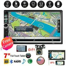 "7"" 2DIN Car Touch Screen MP5 Player Bluetooth Stereo Radio Head Unit + Camera"