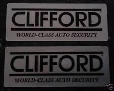 2 X Original Clifford Alarma de automóvil Ventana advertencia calcomanía de pegatinas.