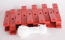 Silva Typ B Marker Clips 10 Stück Rot Transparent Einheitsgröße