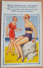 Donald McGill:   Bathing Beauties, Swim suits, Bikini.