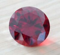 Attractive Red 10mm Ruby Round Faceted Cut VVS Loose Gemstone From China