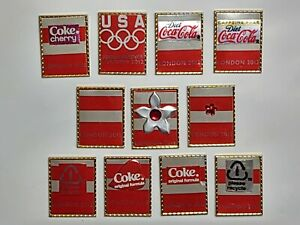 London 2012 Olympics Hand Cut/Made from USA Coca-Cola Cans Lapel Pin Set