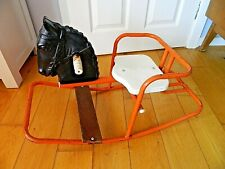 Vintage 1950's Triang Rocking Horse Rocker Toy Black Head/Red Retro Childs Toy