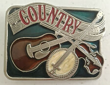 Country Belt Buckle - Made in USA - Music