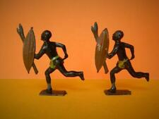 JOHILLCO JOHN HILL & CO VINTAGE PRE-WAR LEAD RUNNING ZULU WARRIORS x 2