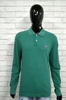 Polo Uomo HENRY COTTON'S Taglia XXL Maglia Manica Lunga Shirt Man Herrenhemd