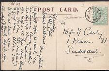 Family History Postcard - Crosby - 1 Princess Street, Sunderland  RF323