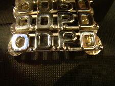 "Pair of Silver O.D.P.D. Metal Brand New 7/16"" Uniform Pins ODPD"