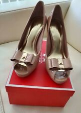 PRE-OWNED COACH STARLA PATENT BLUSH HIGH HEEL PUMP SIZE 8