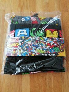 Marvel Pyjamas for Men,100% Cotton Lounge Wear official XL