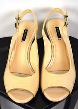 Alex Marie Beige Peep Toe Slingback Heels Size 8.5 M