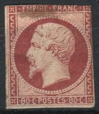 "FRANCE STAMP TIMBRE N° 17 Al "" NAPOLEON III 80c CARMIN FONCE"" NEUF x A VOIR M183"