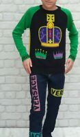 NEW Young Versace RRP £600 Kids Boys Childrens Multicolour Jeans Top Jumper A204