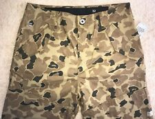 G STAR RAW ROVIC Loose 36 Brown Camouflage Mens Flaps Shorts Orig. $100+ SALE!