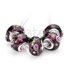 10pcs Murano Glass Beads Lampwork Fit Charms European Bracelet 14x10mm LB0131
