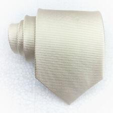 Necktie silk classic light beige  Morgana Made in Italy business wedding men tie