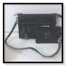 Mimco Leather MIM DUO Supernatural Couch Hip Hand Bag BNWT Black Bonus Purse