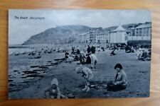 Two vintage unposted postcards of Aberystwyth Beach, Ceredigion, Wales