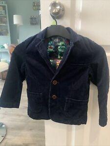NEXT Navy Boys /Toddler Corduroy Blazer Jacket, Age 3 - 4 VGC