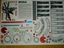 Soviet satellite Molnija 1 Czechoslovak rare Paper Model