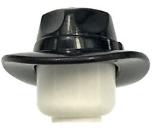 LEGO NEW BLACK MINIFIGURE HAT WIDE BRIM HAT FEDORA OUTBACK STYLE PIECE