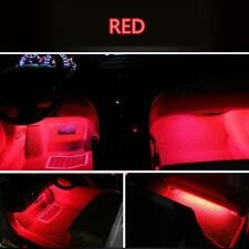 4x 12LED Red Charge Interior Accessories Foot Car Decorative Light Lamps LED RED