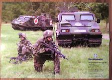 POSTER Bundeswehr Fahrzeug Bv 206 S HÄGGLUND Führung Transport Plakat Bw NEU top