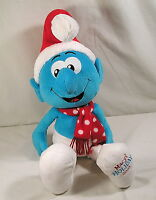 "Build A Bear Smurf Christmas Doll Plush 22"" Papa Santa Smurf 2010 Macy's Toy"
