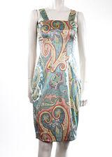 Dolce & Gabbana Pastel Floral Satin Sheath Dress, 6