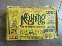Vintage 1976 Box of Nothing For Person Who Has Everything Gag Gift Freelance