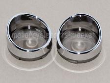 2pcs SmokeTurn Signal Light Lens Cover For Harley Touring Road King Visor Style