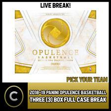 2018-19 PANINI OPULENCE BASKETBALL 3 BOX (CASE) BREAK #B184 - PICK YOUR TEAM -
