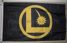Legion of Super-Heroes 3'x5' Black Flag Banner DC Comics Cosmic Boy- USA Shipper
