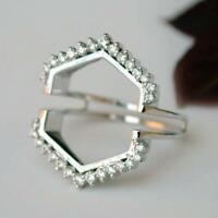 0.75Ct Round Cut Diamond Guard Wrap Enhancer Ring 14K White Gold Finish