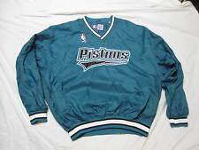 MINT Vintage 90s STARTER Detroit Pistons Teal Pullover Sewn Nylon Jacket 2XL XXL