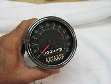 Vintage Checker Cab Speedometer Date code 1962 120mph 3 3/8 mounting cable drive