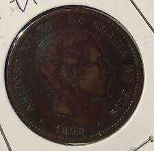 1879 SPAIN DIEZ GRAMOS 10 CENTIMOS - fine details