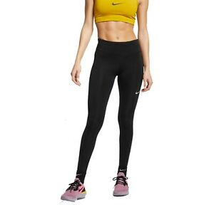 Nike Authentic Women's Fast Running Black Tights AT3103-010 S SMALL NWT