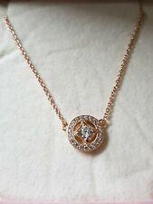 Genuine Rose Gold Vintage Circle Collier Pandora Necklace Ale Met R 45Cm