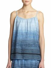 NWT- Vince Ombre Silk Stripe Camisole Top, French Blue - Size Medium