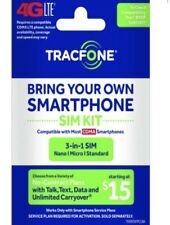 TRACFONE BYOP Bring Your Own Phone Sim Card 3/1 Kit CDMA Save