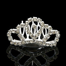 New Wedding Bridal Comb Tiara Rhinestone Crystal Crown Princess Hair Headband US