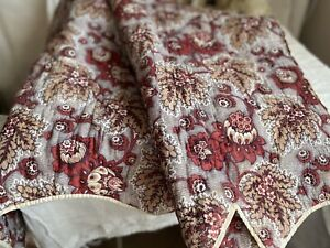 Antique Fabric, Quilt Fragment 19C French Vintage Fabric. Home Decor Furnishings