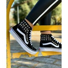 Vans SK8 Ankle Boot High Studded Black Silver 2020 [Product Customized]