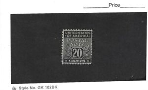 USA 20 Cent Postal Note Black Single Fine Used